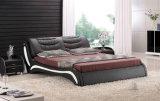 2017 dormitório cama moderna Leather Size no quarto Set (HC303)