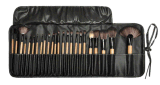 bilden kosmetische Gesichtsbehandlung 24PCS Pinsel-Installationssatz-Verfassungs-Pinsel mit schwarzem ledernem Kasten
