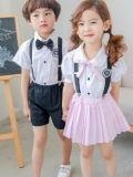 2017 moda personalizada primaria elegante Niño y Niña de los uniformes escolares