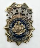 Bronze antigo de bronze feito sob encomenda emblema chapeado da lembrança da polícia
