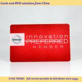 Cartão de tarja magnética de brilho impresso PVC para Previliege Membership