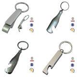 Fabrik-Zubehör-kundenspezifischer Metallleerzeichen-Flaschen-Öffner mit Schlüsselring
