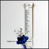 Hfy Glass en stock 10 pouces Straight Tube Glass Somking Water Pipe Waterpipes Illadelph Borosilicate Hookah Tobacco