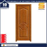 Porta de madeira interior contínua composta do painel de vidro de madeira do mogno/Teak