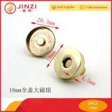 Couvrir l'anneau en métal boutons magnétique pour cuir