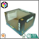 Caixa Stackable do carrinho de indicador do PNF do papel ondulado da cor feita sob encomenda