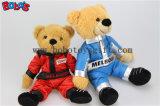 """10 """" Gevulde de Pluche draagt de Dierlijke Teddybeer van de Kleding van het Ras van het Voertuig van de Organismen van de Slijtage Rode Aangesloten bij"""