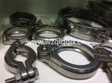 Sanitair Roestvrij staal 304 TriKlem met Metalen kap en Pakking