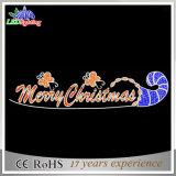 Lumière Glittery de fête de corde de DEL à travers les lumières de motif de lettre de Noël de rue (OB-KL-42004)