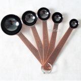 5 PCSの青銅色のステンレス鋼のエスプレッソのスプーンの調理器具