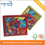 Personalizado Caixa de papel impressa colorida do presente do Natal (QYZ030)
