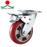 Heavy Duty PU en rueda de aluminio