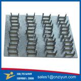 Plaques en acier galvanisées de fourche avec les fourches droites