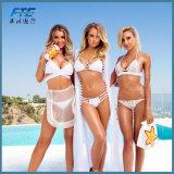 Het kleurrijke Zwempak van de Bikini Swimwears van de Manier Tweedelige Rijpe