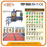 Automatische hydraulische Hfb543s Qtf3-20 Straßenbetoniermaschine-Ziegeleimaschine über Cer ISO