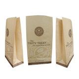 Sacchetto bianco personalizzato ecologico della carta kraft Di vendita calda per alimento