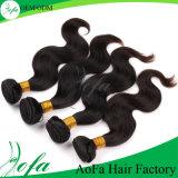 方法加工されていない人間の毛髪の拡張緩いWeftバージンの毛