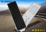IP65 alto lúmen todos em uma lâmpada de Rua LED solares