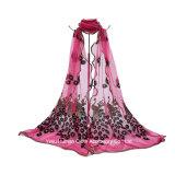 Frauen stickten Pfau-langen Schal-Schal