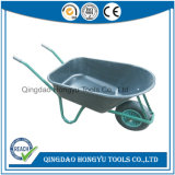 Wheelbarrow pneumático da roda da bandeja plástica quente do Sell (WB6414L)