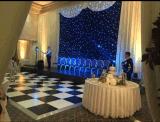 16X16FT preto e branco num piscar LED Casamento do painel de acrílico de Dança