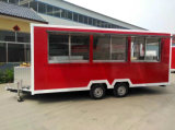 Trandaはセリウムが付いている移動式食糧トラックを販売する通りをカスタマイズした