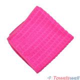 De roze Geruite Droogdoek van de Keuken Microfiber