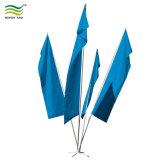 Bandera de clúster de publicidad exterior de aluminio con base bandera