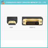 Male HDMI에 HDTV를 위한 DVI Converter Connector Adapter에 여성