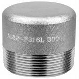 Acero forjado de alta presión 304/316L tapón de cabeza hexagonal