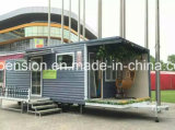 De groot Draagbaar Eenvoudig Mobiel Geprefabriceerd/PrefabKoffiebar van de Verkoop/Huis in de Straat