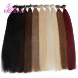 Estensioni Nano brasiliane dei capelli dell'anello dei capelli umani del Virgin di qualità 100% delle parrucche del K.S buone