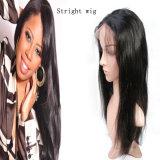 정면 브라질 사람의 모발 Virgin 100%년 운명 머리는/충분히 가발을 끈으로 묶는다