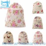 Peint main lingerie la mousseline de coton de la farine de coulisse de sacs en toile de stockage