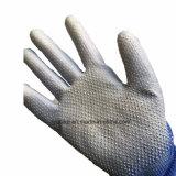 Безопасности PU покрытием перчатки с ПВХ точек