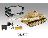 R/C het plastic Stuk speelgoed van de Tank met Licht en Muziek (052579)