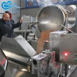 De automatische Industriële Met een suikerlaagje bedekt Amandel die van de Okkernoten van de Cashewnoten van de Pinda de Roosterende Bradende Machine van de Verwerking maakt