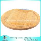 円形のタケまな板のタケまな板のチーズボード