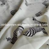 Impresión hermosa de la gasa maxi tela de satén para el vestido / diadema