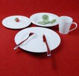 Piatti di pranzo bianchi del piatto della Cina del ristorante di ceramica del commercio all'ingrosso