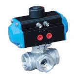 Acier inoxydable 304/316 robinet à tournant sphérique à trois voies