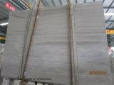 Белый/серый деревянный мрамор зерна для сляба или Countertop