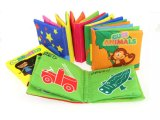 Les nourrissons Bébé doux chiffon anneau Squeaker livres papier Jouets Toddler cognitive