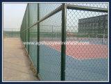 Clôture de liaison en chaîne soudée galvanisée en PVC pour aire de jeux