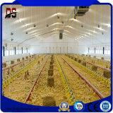 Camera di pollo prefabbricata dell'azienda avicola della struttura d'acciaio con strumentazione