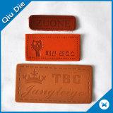 Zoll geprägte Firmenzeichen-Leder-Änderung am Objektprogramm für Jeans/Beutel