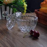 vaso di vetro della candela 9oz con il coperchio di vetro