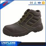 Zapatos de seguridad de acero del negro del casquillo de la punta Ufa026