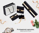 簡単な白黒箱の蓋及び底ギフトの宝石類の包装ボックス