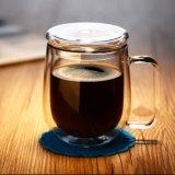 Personalizzare la tazza di caffè di vetro doppia della tazza del latte della tazza di vetro di latte